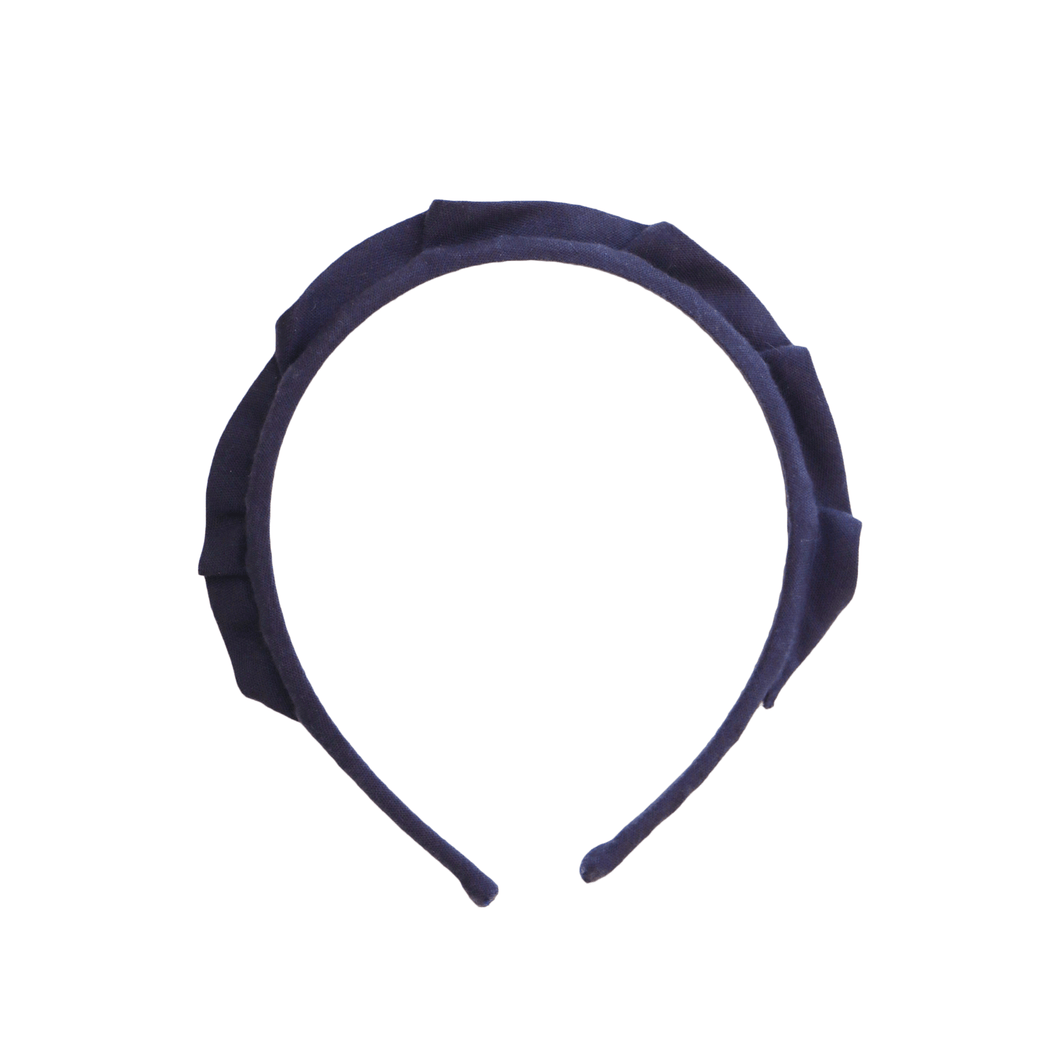 Navy Crown Headband