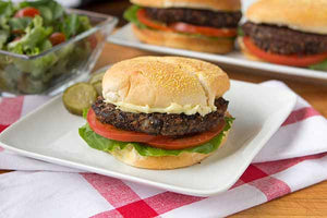 Spicy chipotle black bean burgers