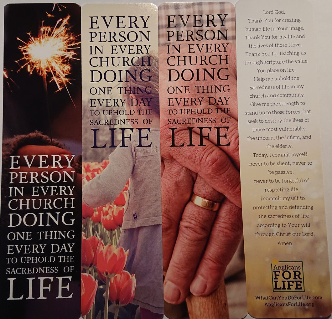 AFL Prayer for Life Bookmarks