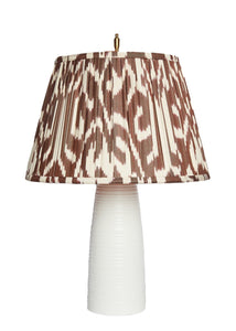 Ikat Lampshade in Brown Deco