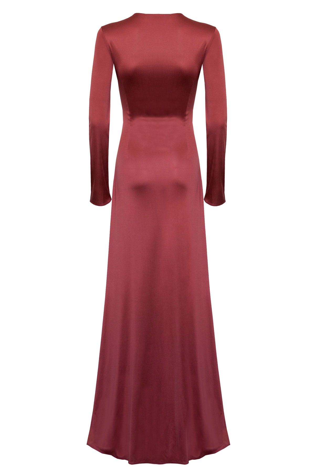 Leonora Jersey Dress in Rust