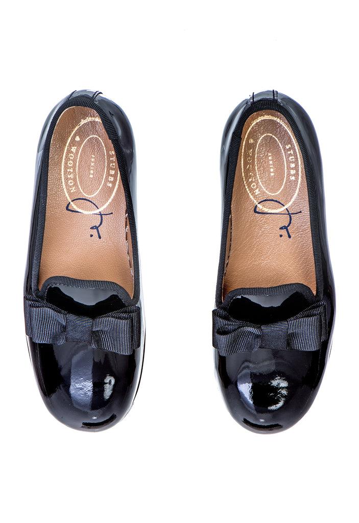 Junior Bow Patent Slipper