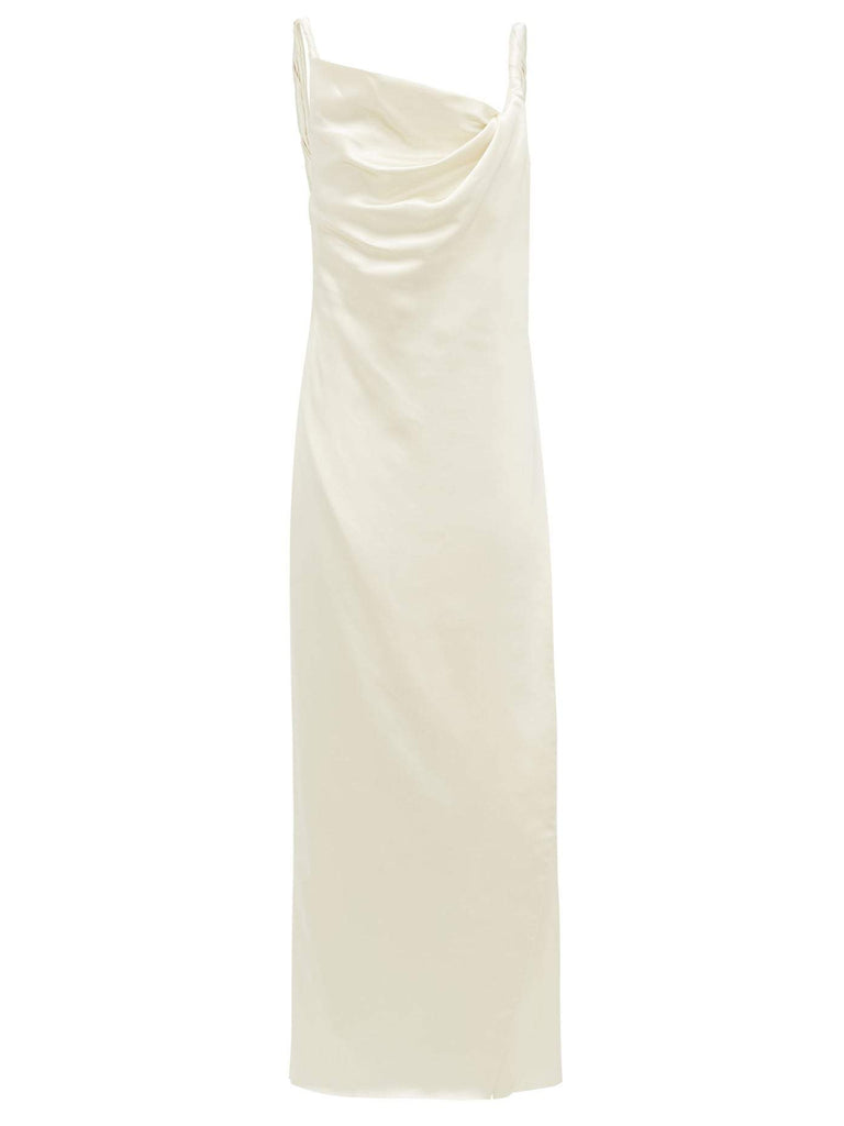 Bias Slip Dress with Cowl Neckline
