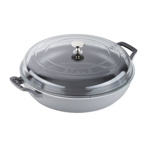 Cast Iron Braiser With Glass Lid