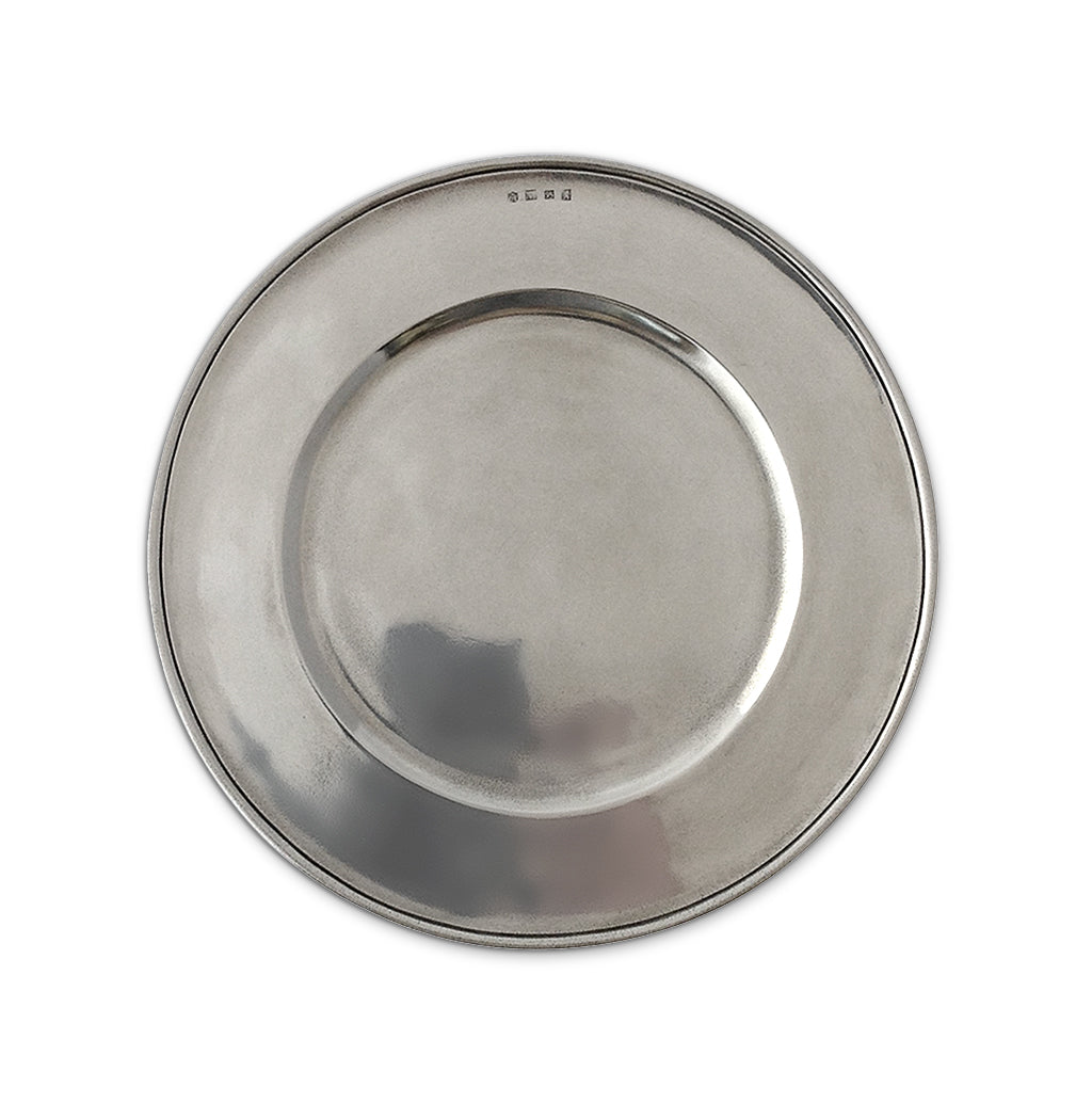 Convivio Charger, All Pewter