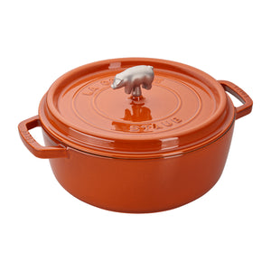 Staub Cast Iron Cochon Shallow Wide Round Cocotte