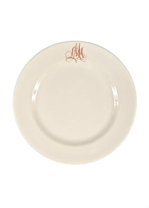Bespoke Empire Plate with Interlaced Monogram