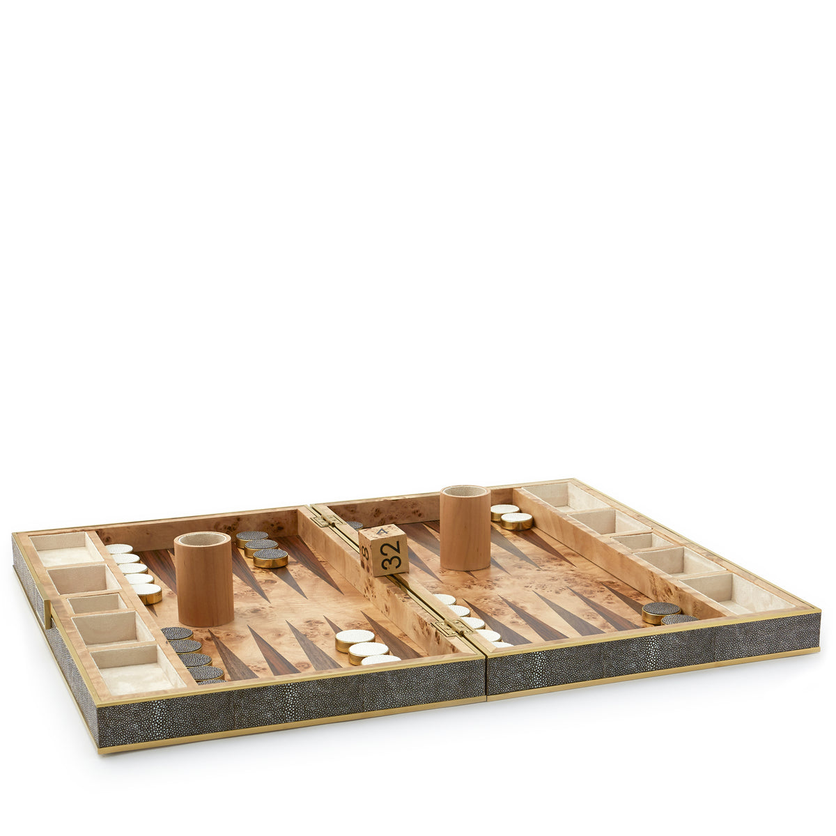 Shagreen Backgammon Set