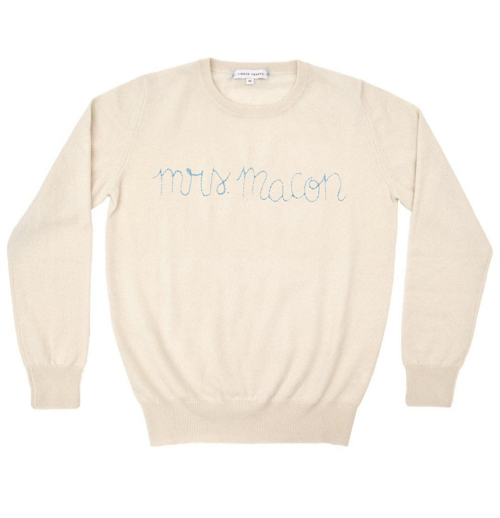 "Over The Moon x Lingua Franca ""Say My Name"" Sweater"