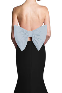 Silk Faille Bow Back Top