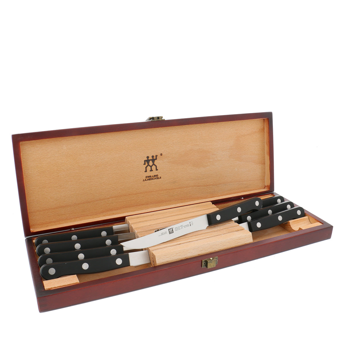 Zwilling Twin Gourmet Classic Steak Knife Set With Wood Case, Set of 8