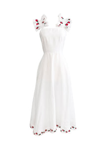 Alanya Off On Shoulder Embroidered Midi Dress