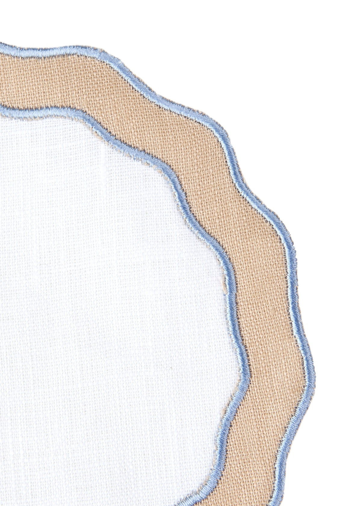Applique Round Cocktail Napkin