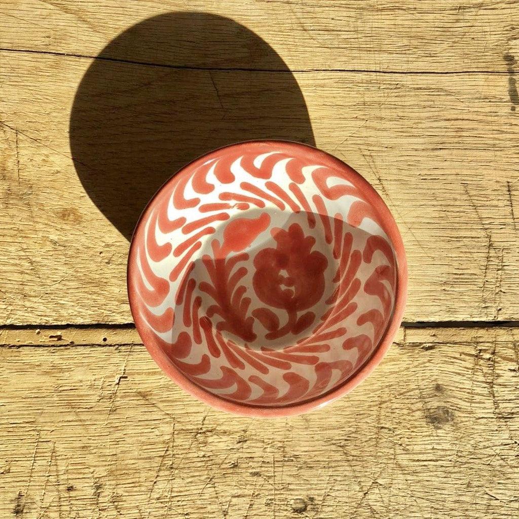 Casa Coral Mini Bowl with Hand-painted Designs