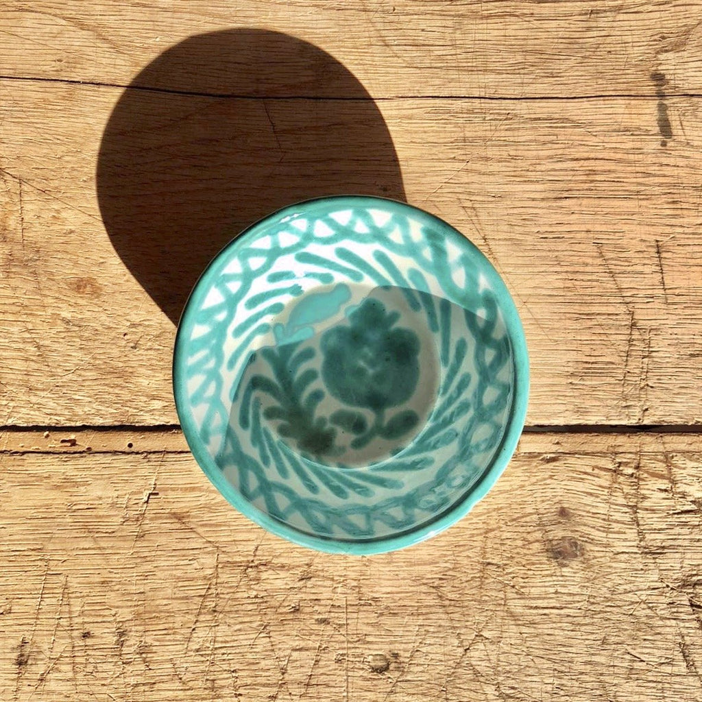 Casa Verde Mini Bowl with Hand-painted Designs