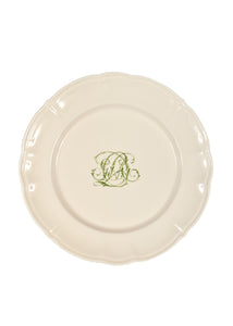 Bespoke Flourished Plate with Cursive Monogram