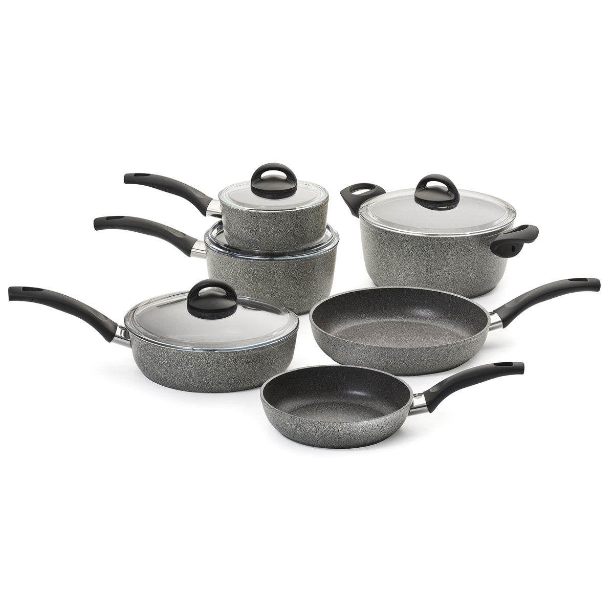 Ballarini Parma Forged Aluminum Nonstick Cookware Set, Set of 10