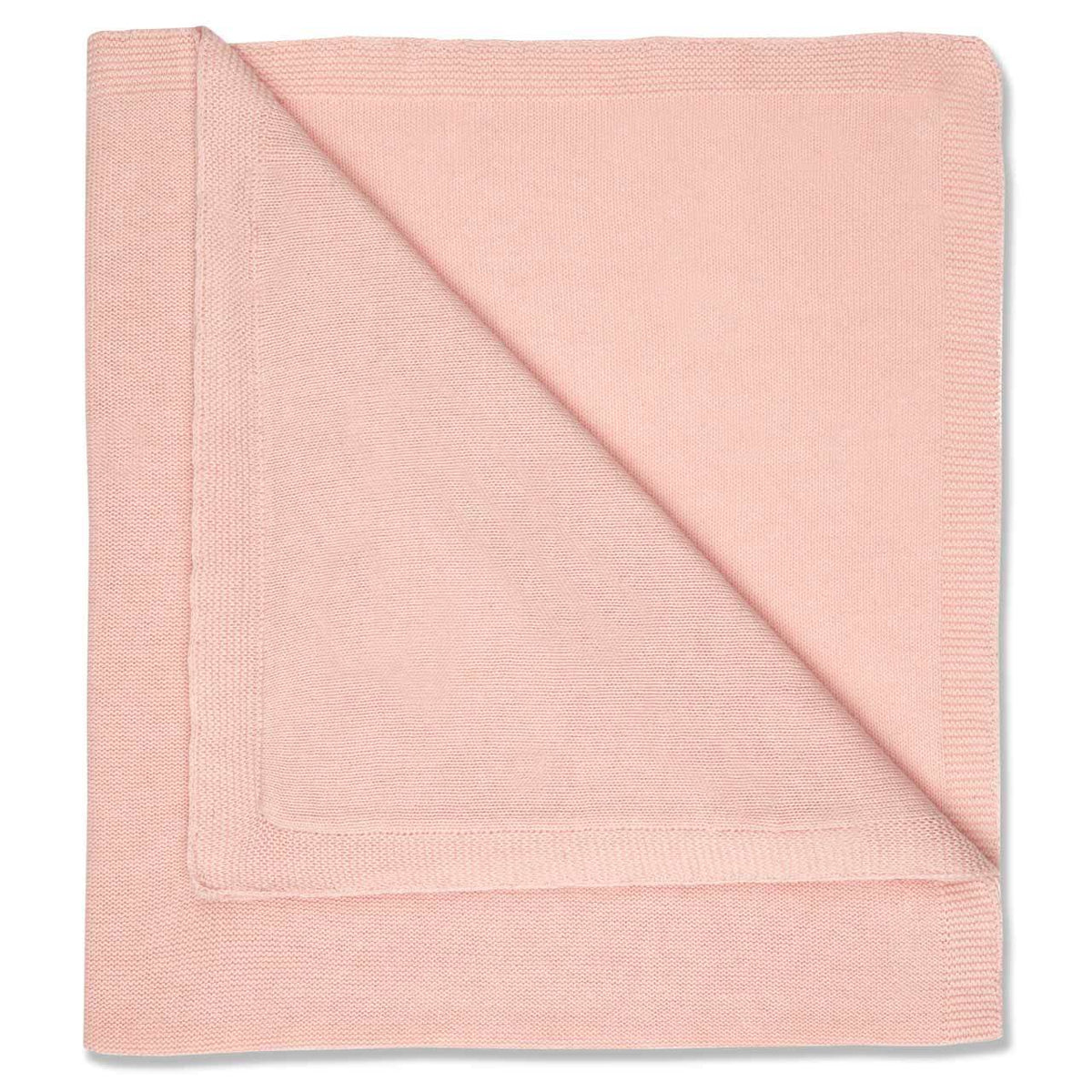 Knitted Blanket in Pale Pink