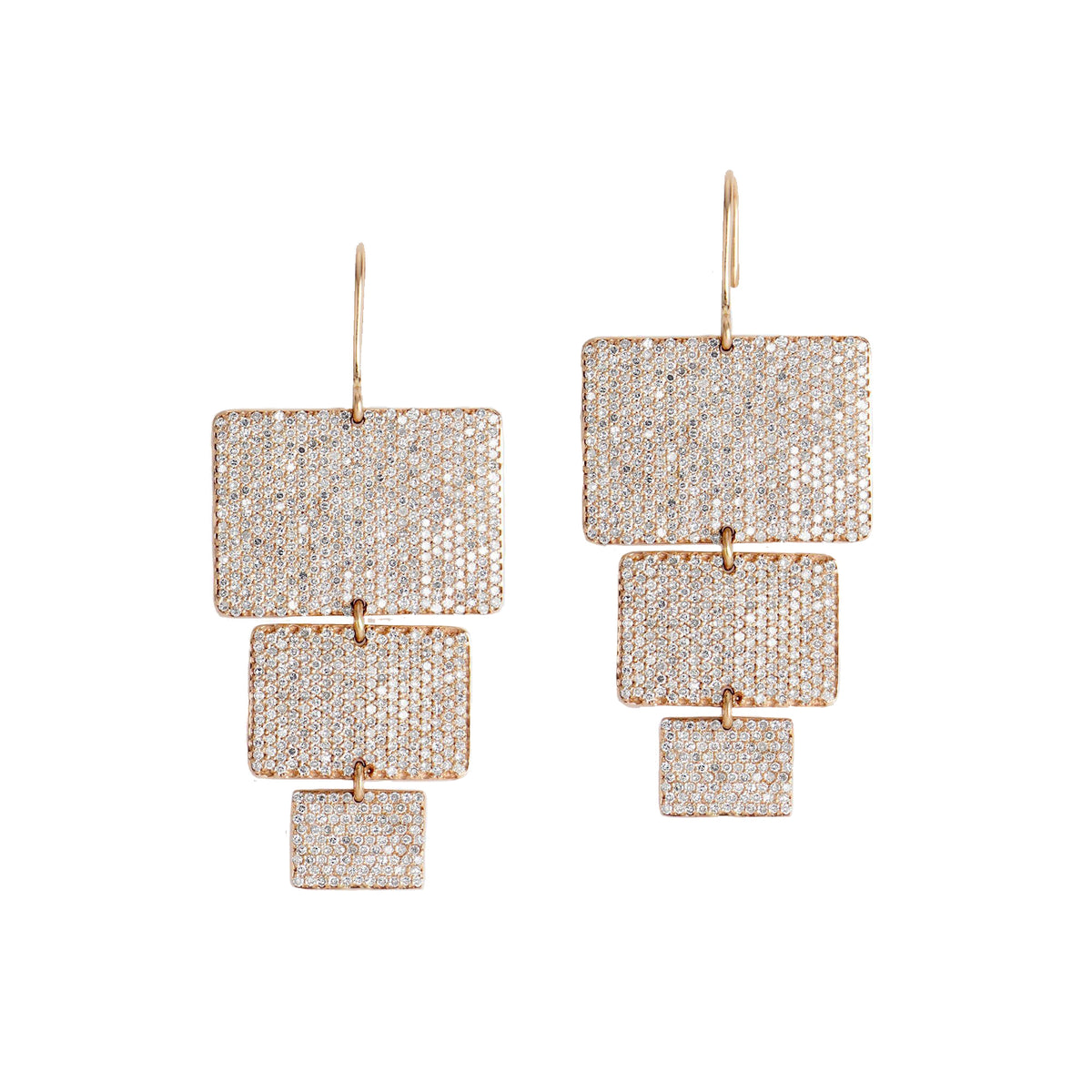 Usha Diamond Chandelier Earrings