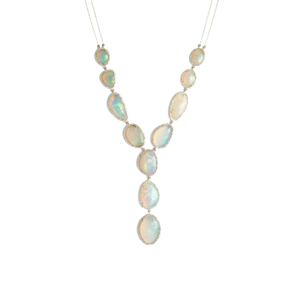 Amita Multi Drop Opal Necklace