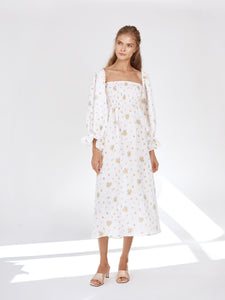 Atlanta Linen Dress In Mimosa