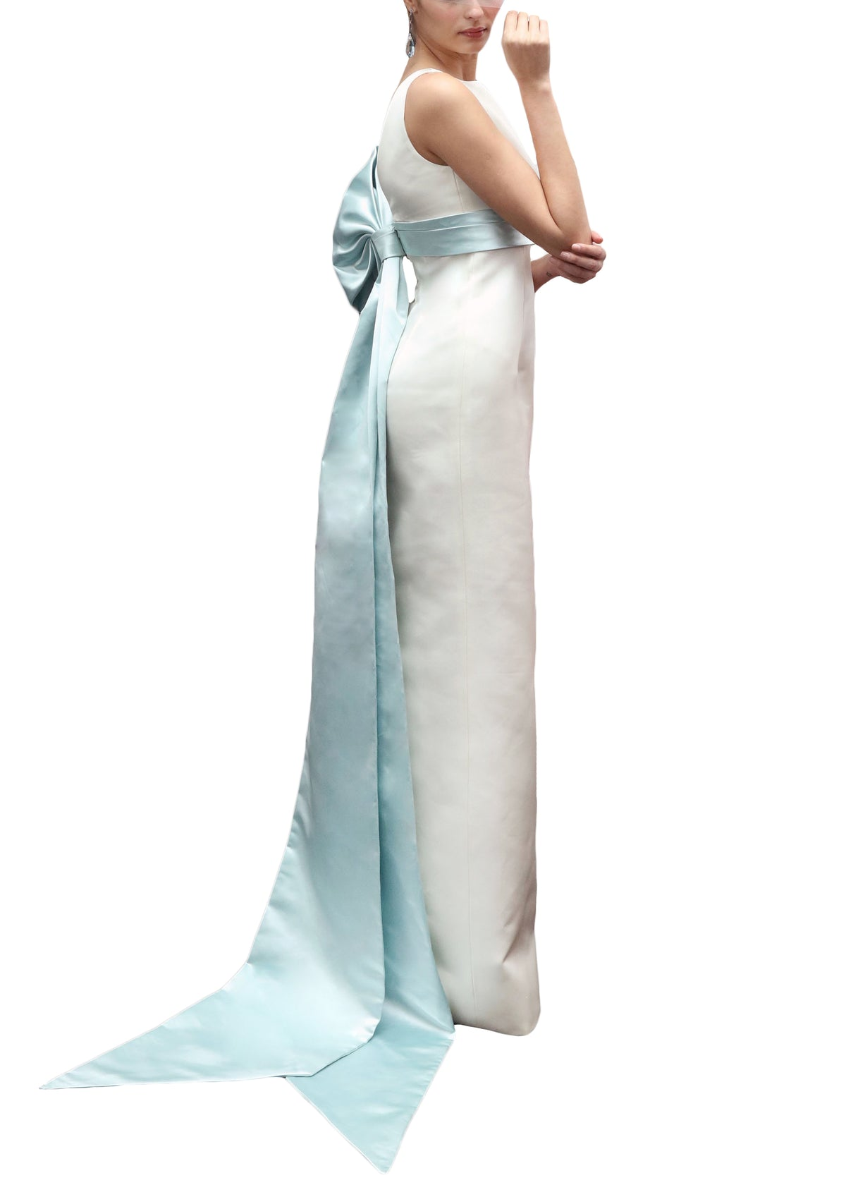Double-Faced Italian Satin Gown