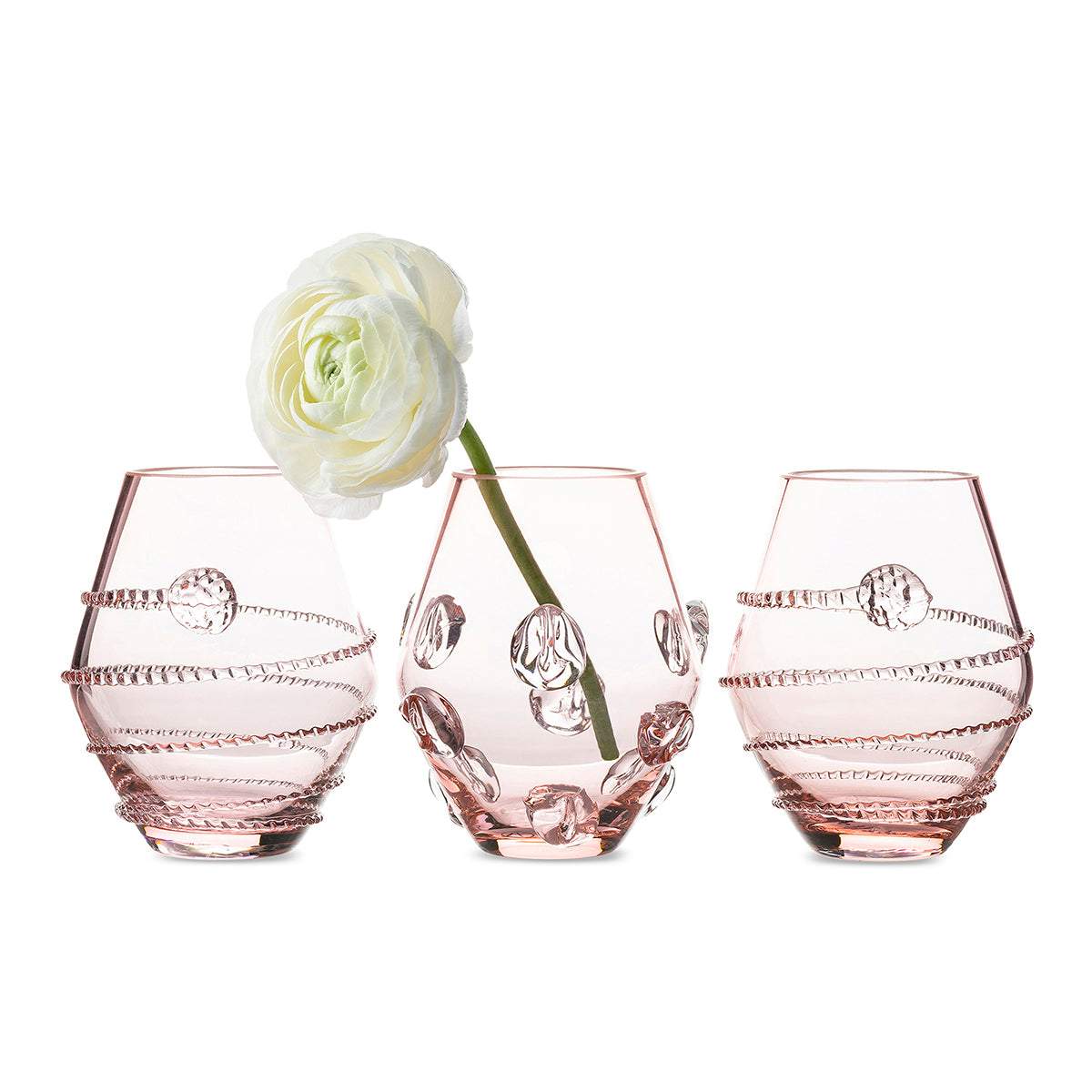 Assorted Mini Pink Vases, Set of 3