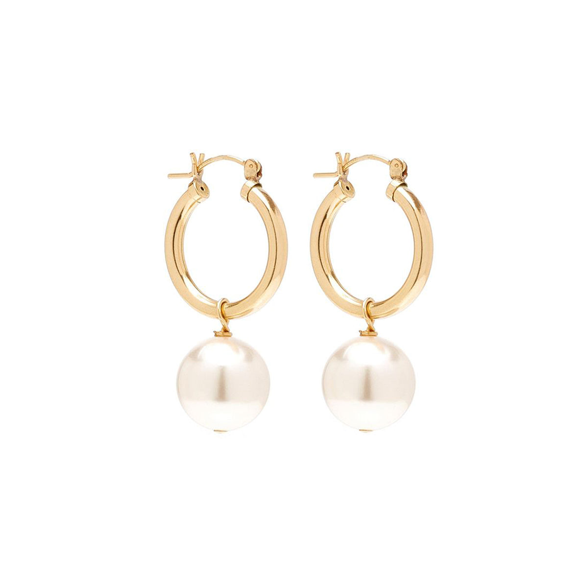 Matching Pearl Summer Agra Hoops