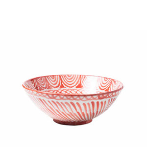 Casa Coral Large Bowl with Hand-Painted Designs