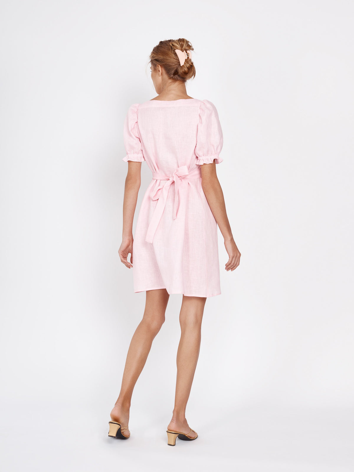 Brigitte Mini Dress in Pink
