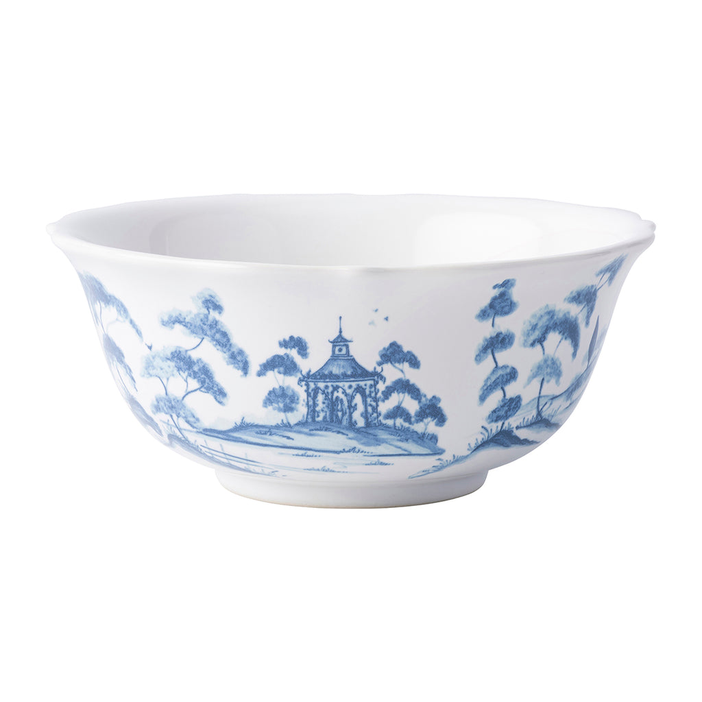 Country Estate Delft Blue Cereal/Ice Cream Bowl Hen House