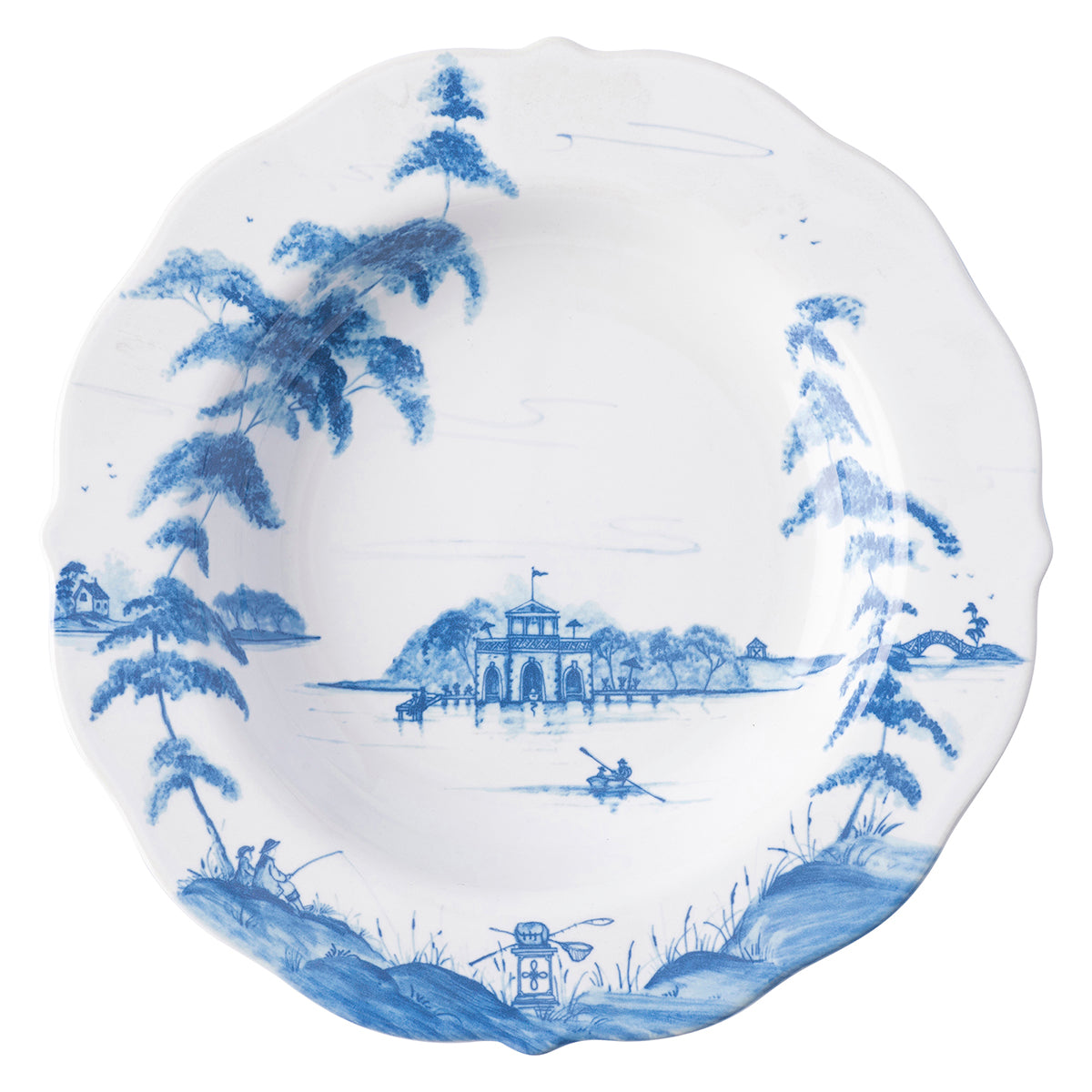 Country Estate Delft Blue Pasta/Soup Bowl Boathouse