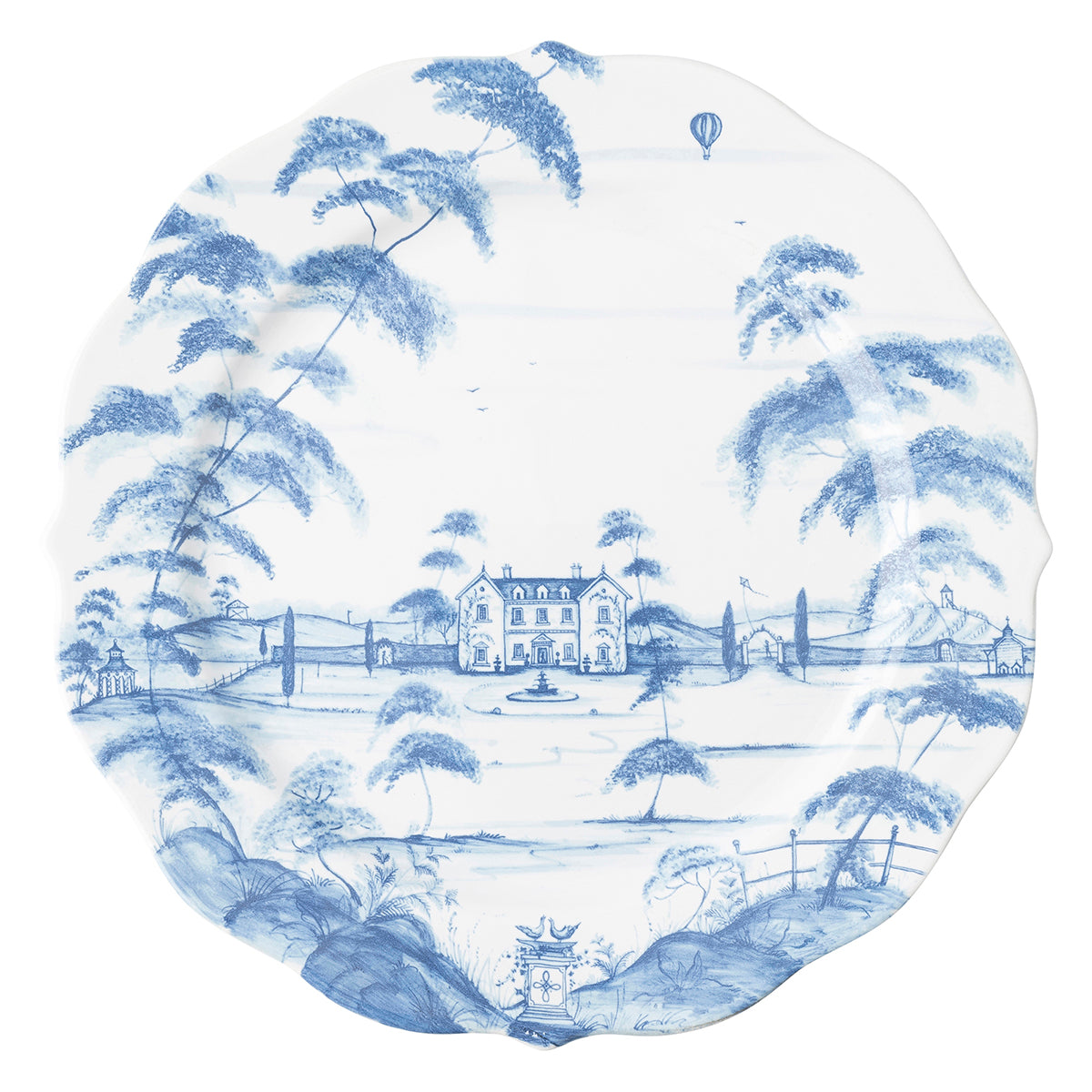 Country Estate Delft Blue Platter/Charger Plate Main House