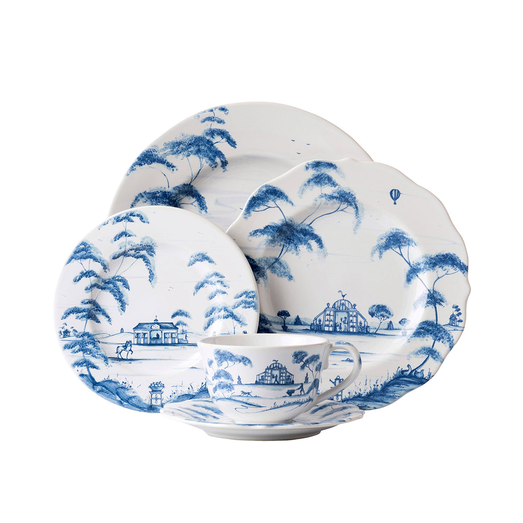 Country Estate Delft Blue Place Setting, Set of 5