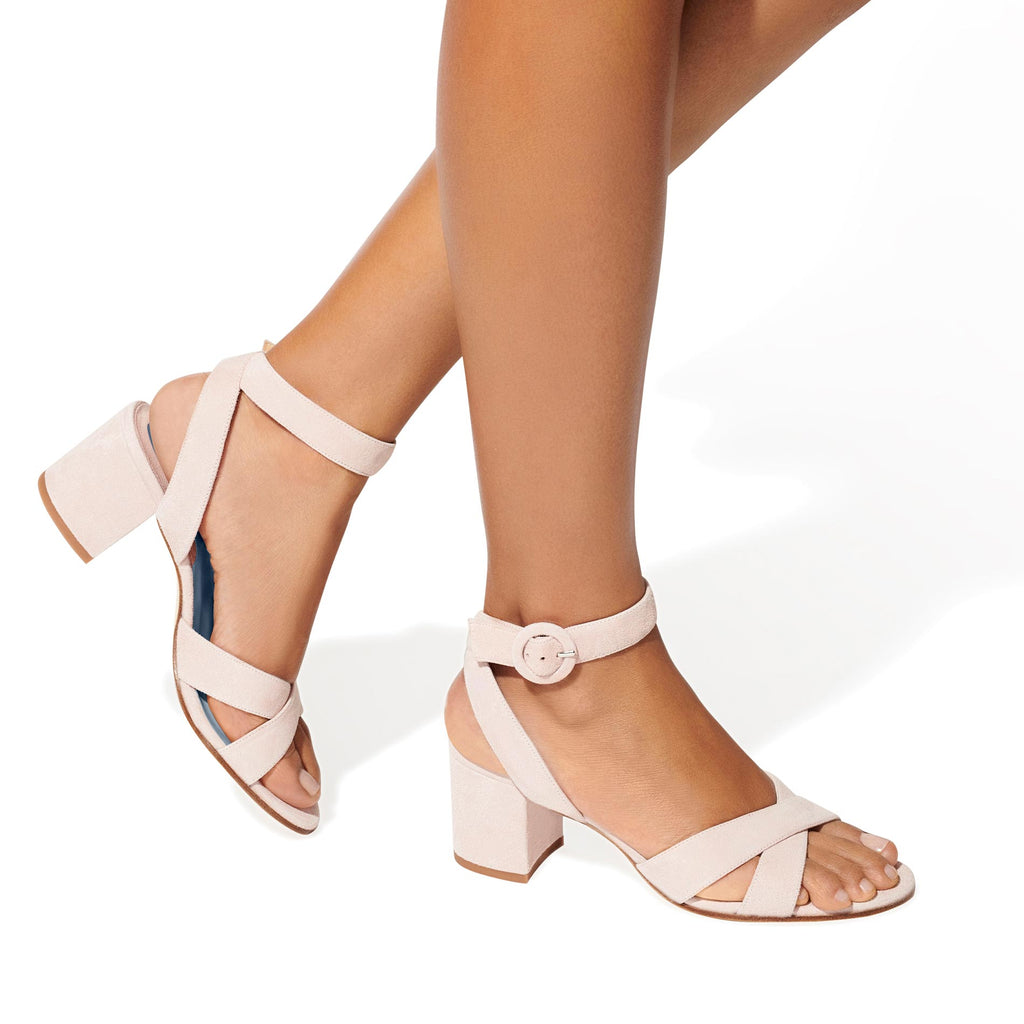 Made-To-Order Bridal: The City Sandal in Blush Suede