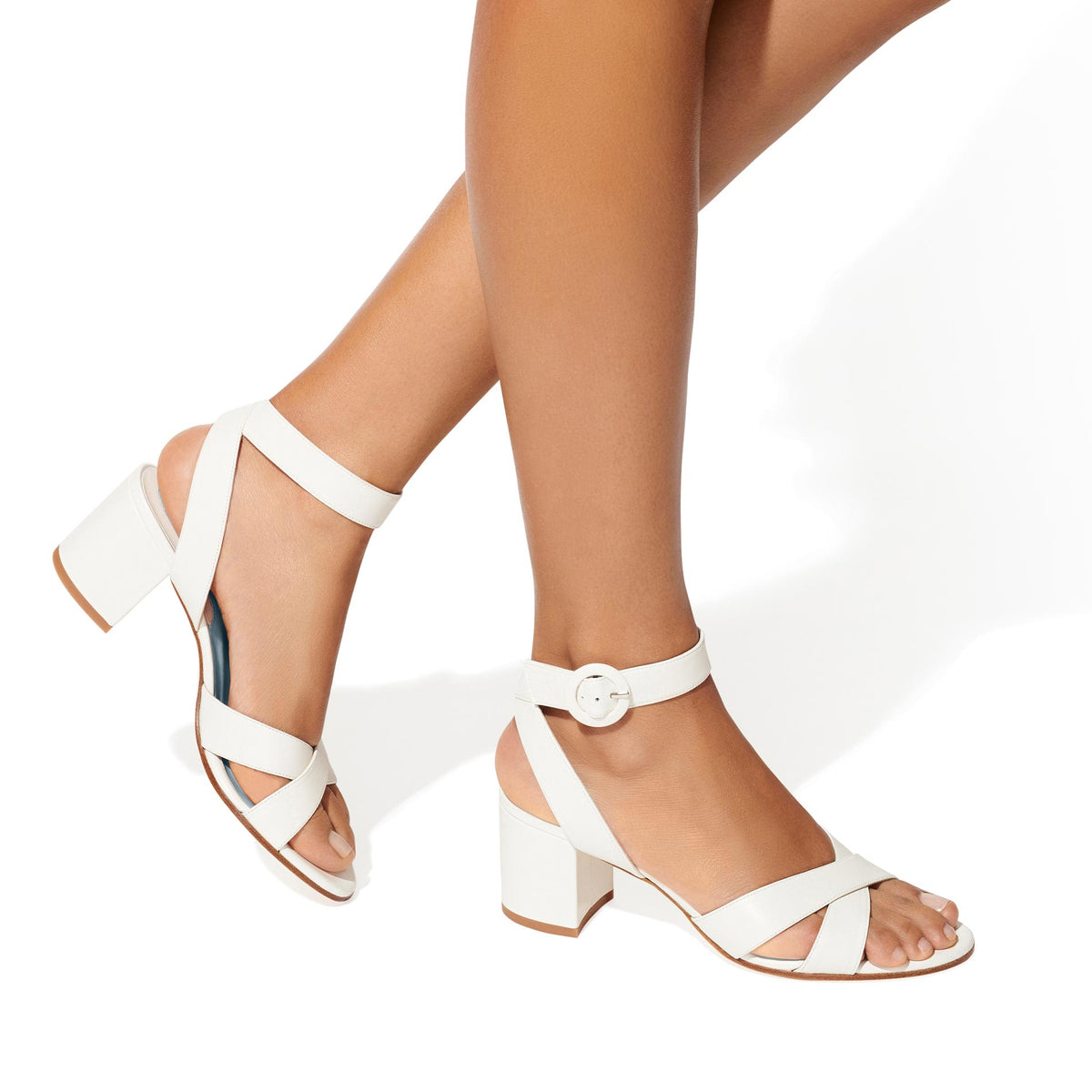 Made-To-Order Bridal: The City Sandal in Ivory Nappa