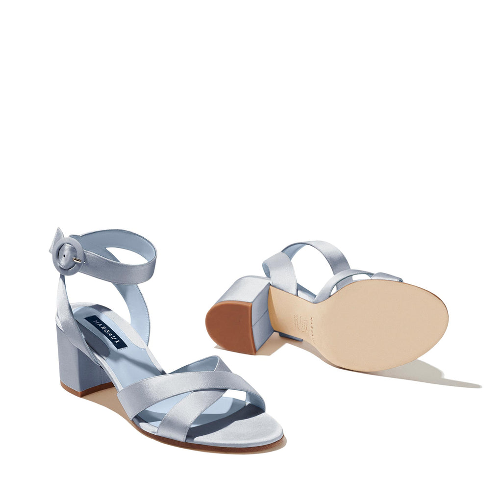 Made-To-Order Bridal: The City Sandal in Powder Satin