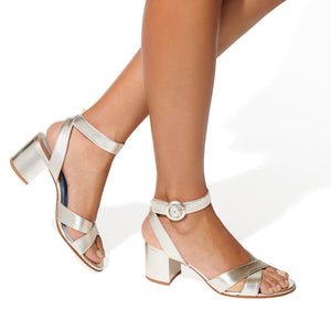 Made-To-Order Bridal: The City Sandal in Metallic