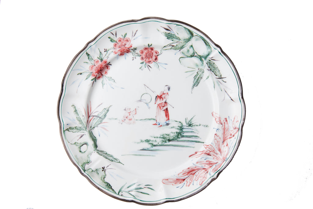 Chinoiserie Dinner Plates, Set of 12