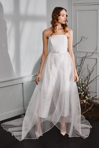 Christian Tapered Organza Skirt
