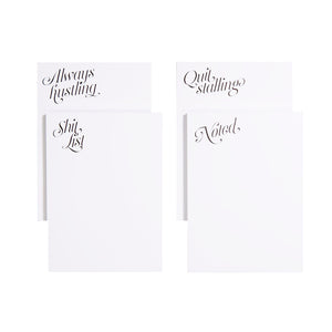 Cheeky Notepads, Set of 4