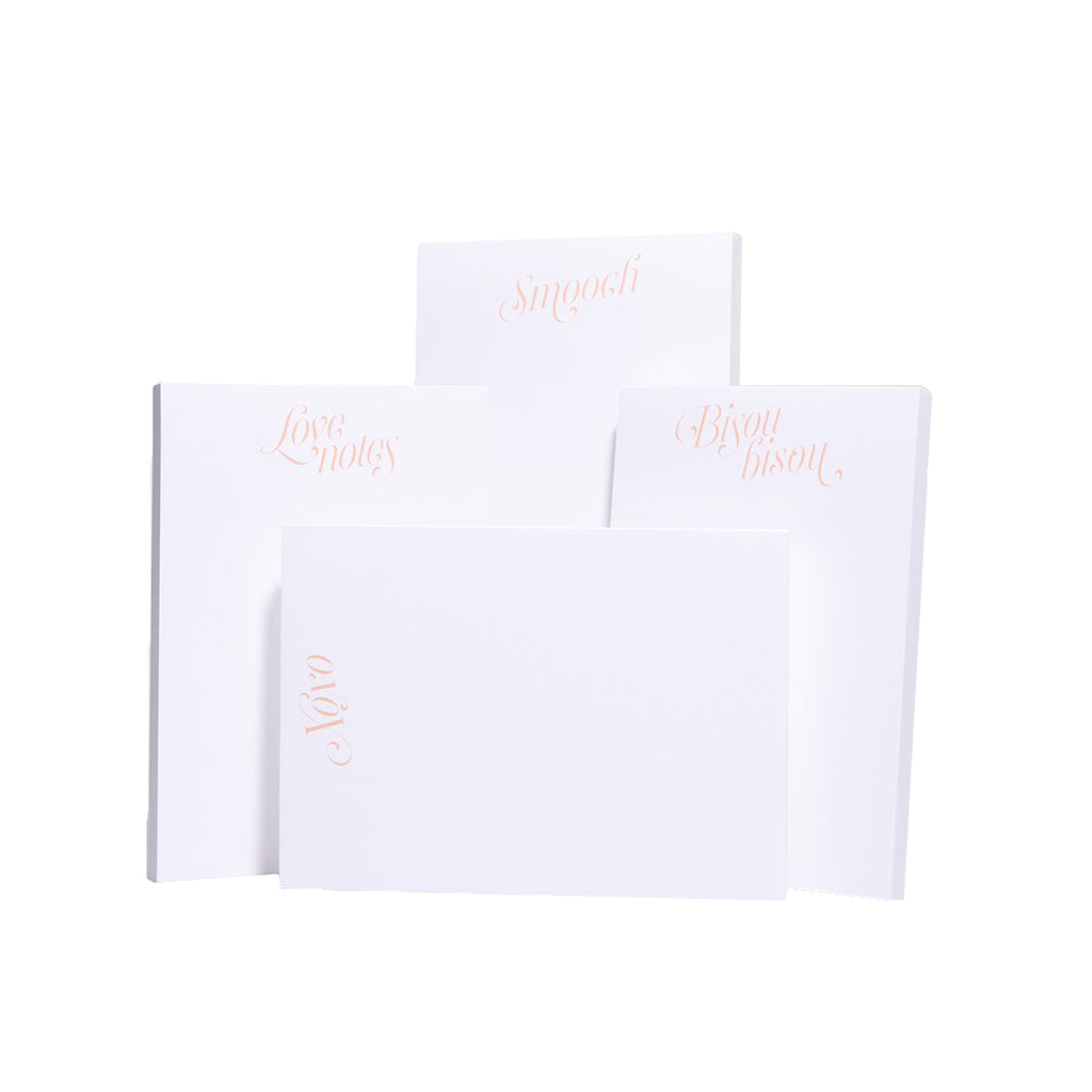 Sweetheart Notepads, Set of 4