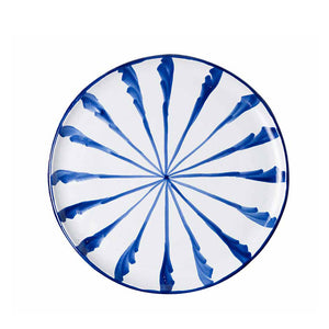 Casa Azul Dinner Plate with Candy Cane Stripes