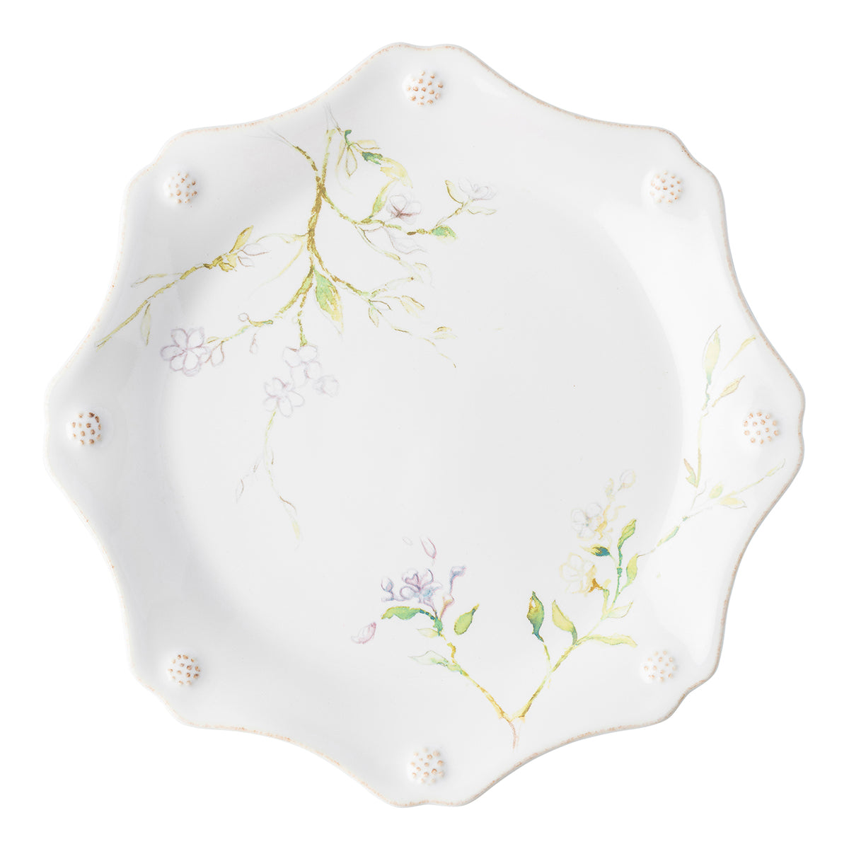 Berry & Thread Floral Sketch Jasmine Dessert/Salad Plate