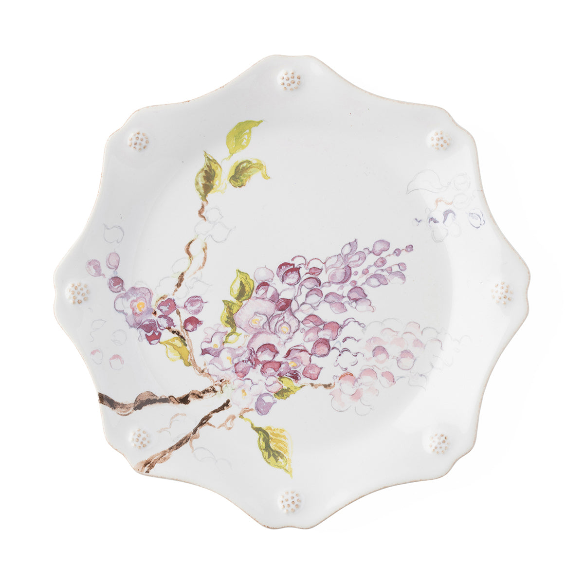 Berry & Thread Floral Sketch Wisteria Dessert/Salad Plate