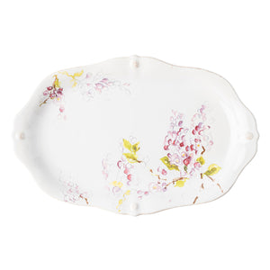 "Berry & Thread Floral Sketch 16"" Wisteria Platter"