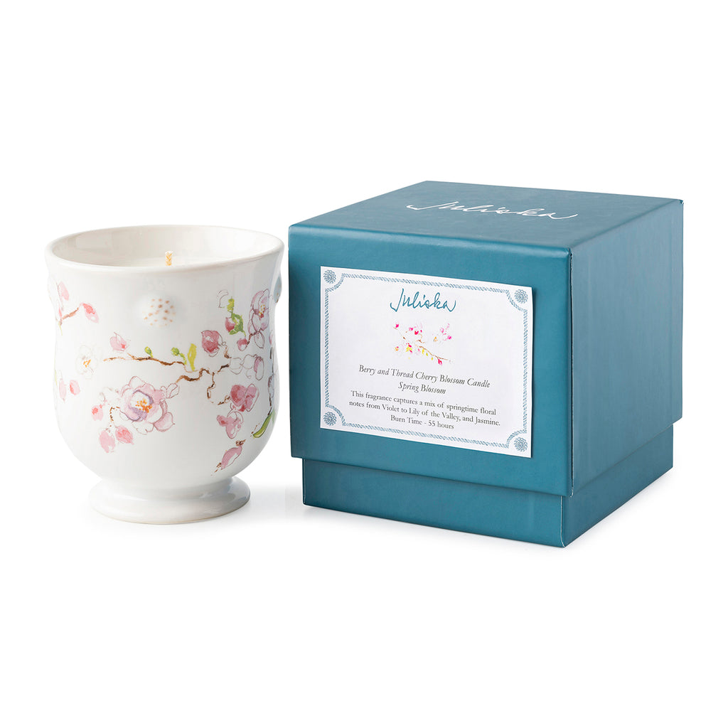 Berry & Thread Floral Sketch Cherry Blossom Candle - Spring Blossom