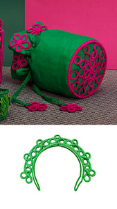 Floral Suzani Green And Fuchsia Bag