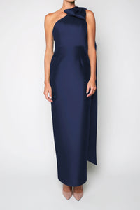 Gabriella Silk and Wool Column Gown