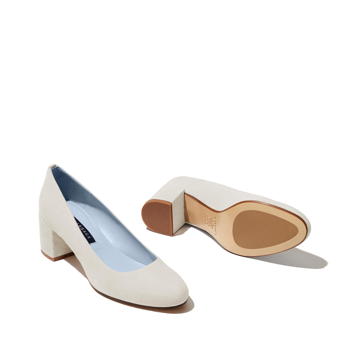 Made-To-Order Bridal: The Heel  in Ivory Suede